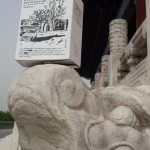 Le BIB en Chine sur sculpture de dragon